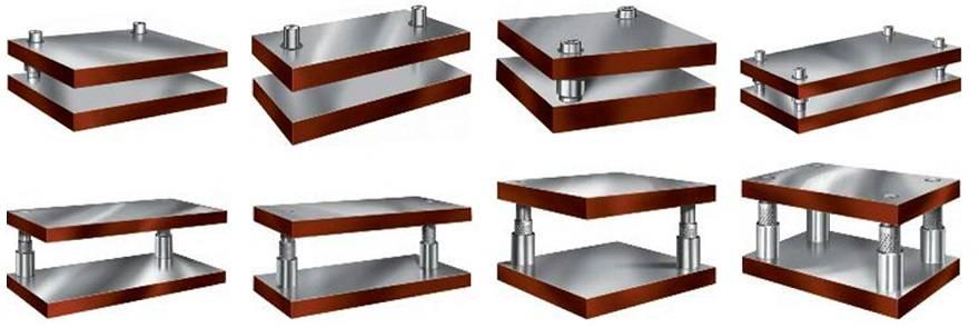 موقعیت و تعداد میله های راهنما در کفشک قالب فلزی