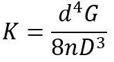 محاسبه ی نرخ فنر مارپیچ با مقطع گرد