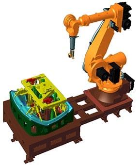 فرآیند لبه زنی با کمک بازوی رباتیک